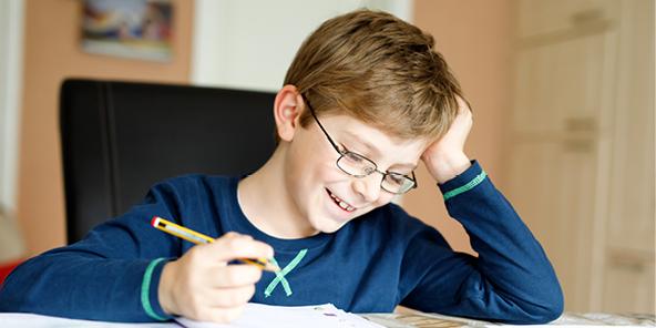 kid handwriting long